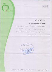 تقدیرنامه وزارت بهداشت بابت پرونده سلامت الکترونیک